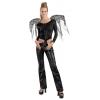 Lace Corset Wings Black